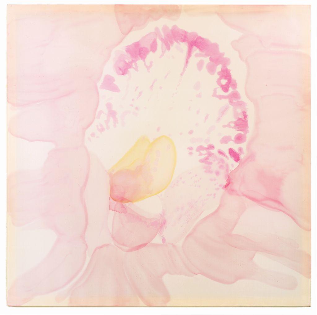 Tego kwiatu jest pół światu, jedwab malowany, 100 x 100 cm, 2016