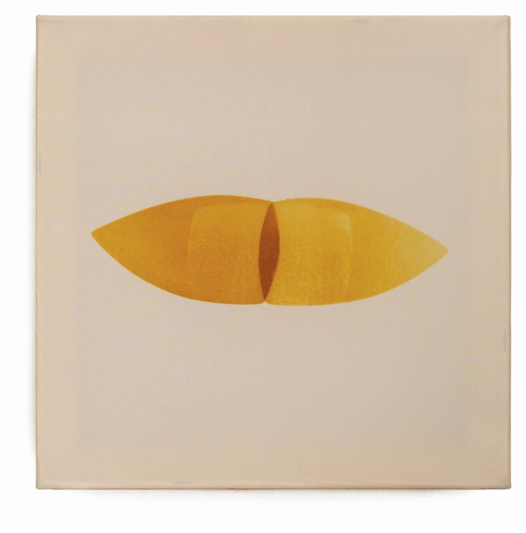 SłodyczeNaboje, jedwab przypalany żelazkiem, 40 x 40 cm, 2016