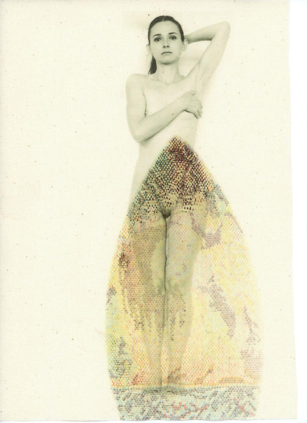 Wedding Dress, druk na bawełnie, ślad żelazka, 2014/16